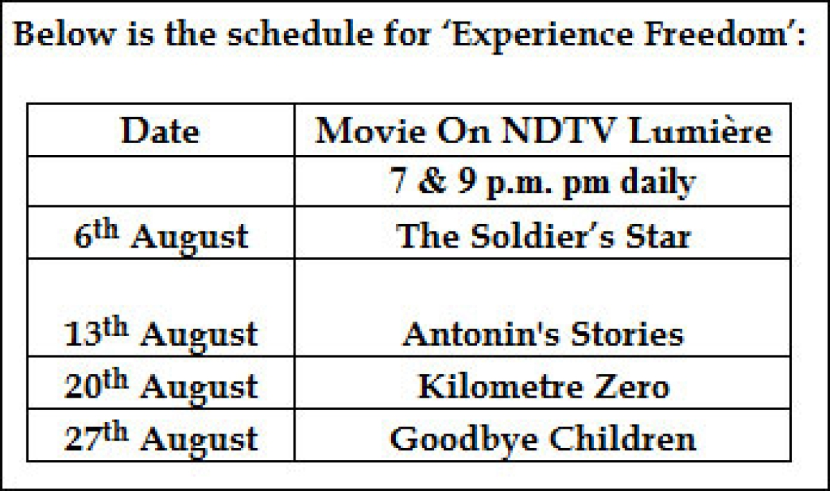 NDTV Lumi&#232re presents 'Experience Freedom'