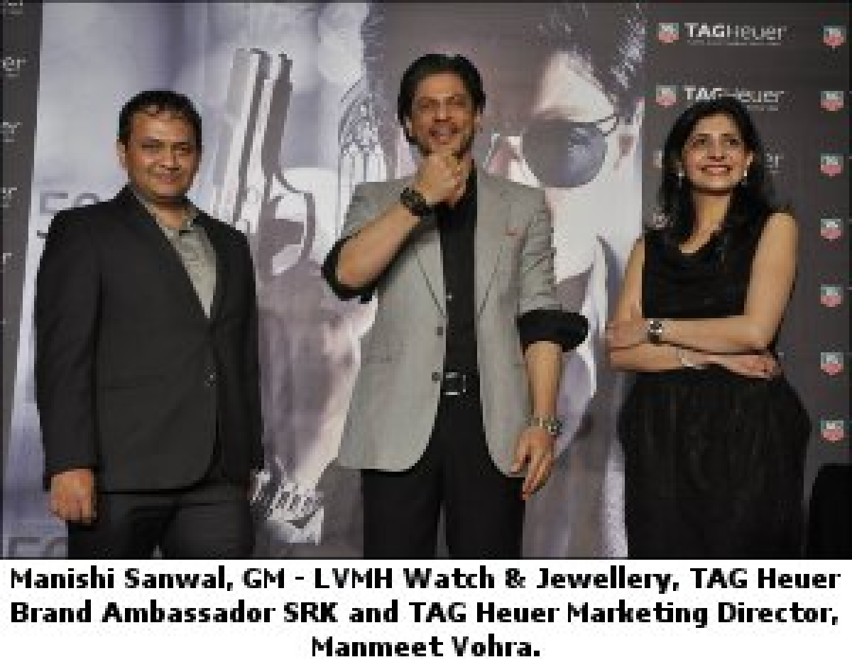 Shah Rukh Khan launches the very exclusive Tag Heuer Monaco V4 Rose Gold Limited Edition