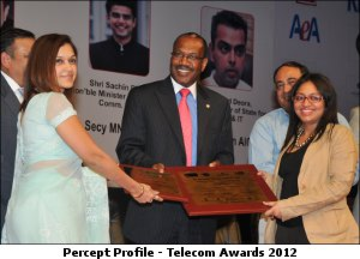 Percept Profile bags the first ever 'Best Telecom Brand Marketing Company' award