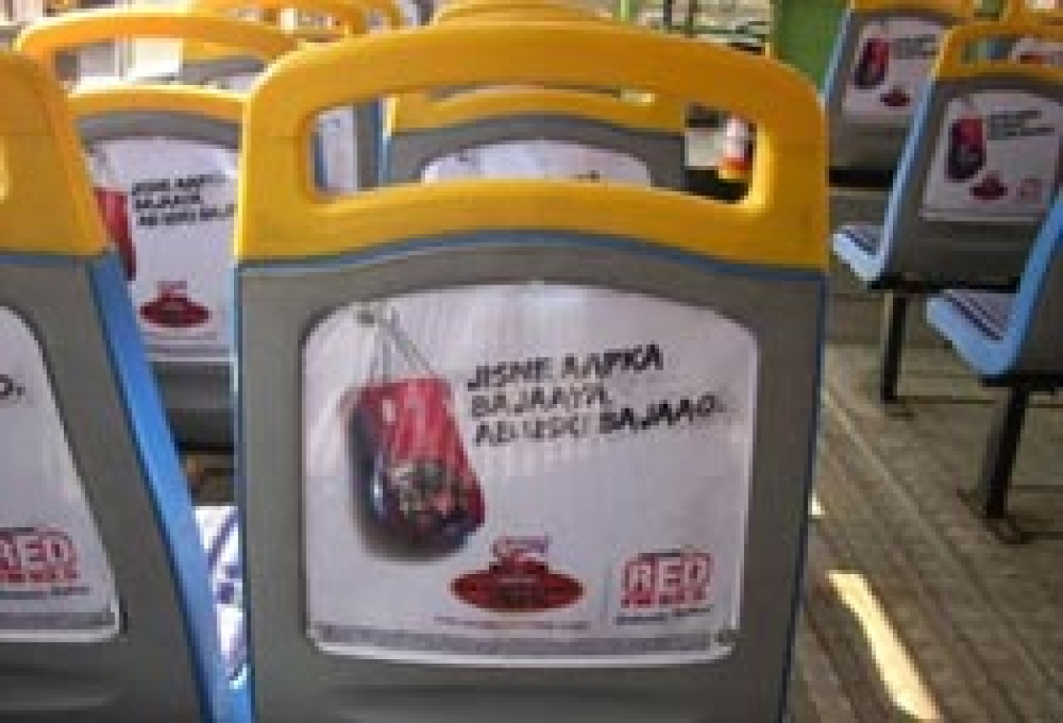 BEST buses lend seat backs to brands