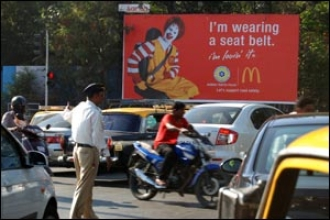 Image result for india mcdonalds mumbai traffic
