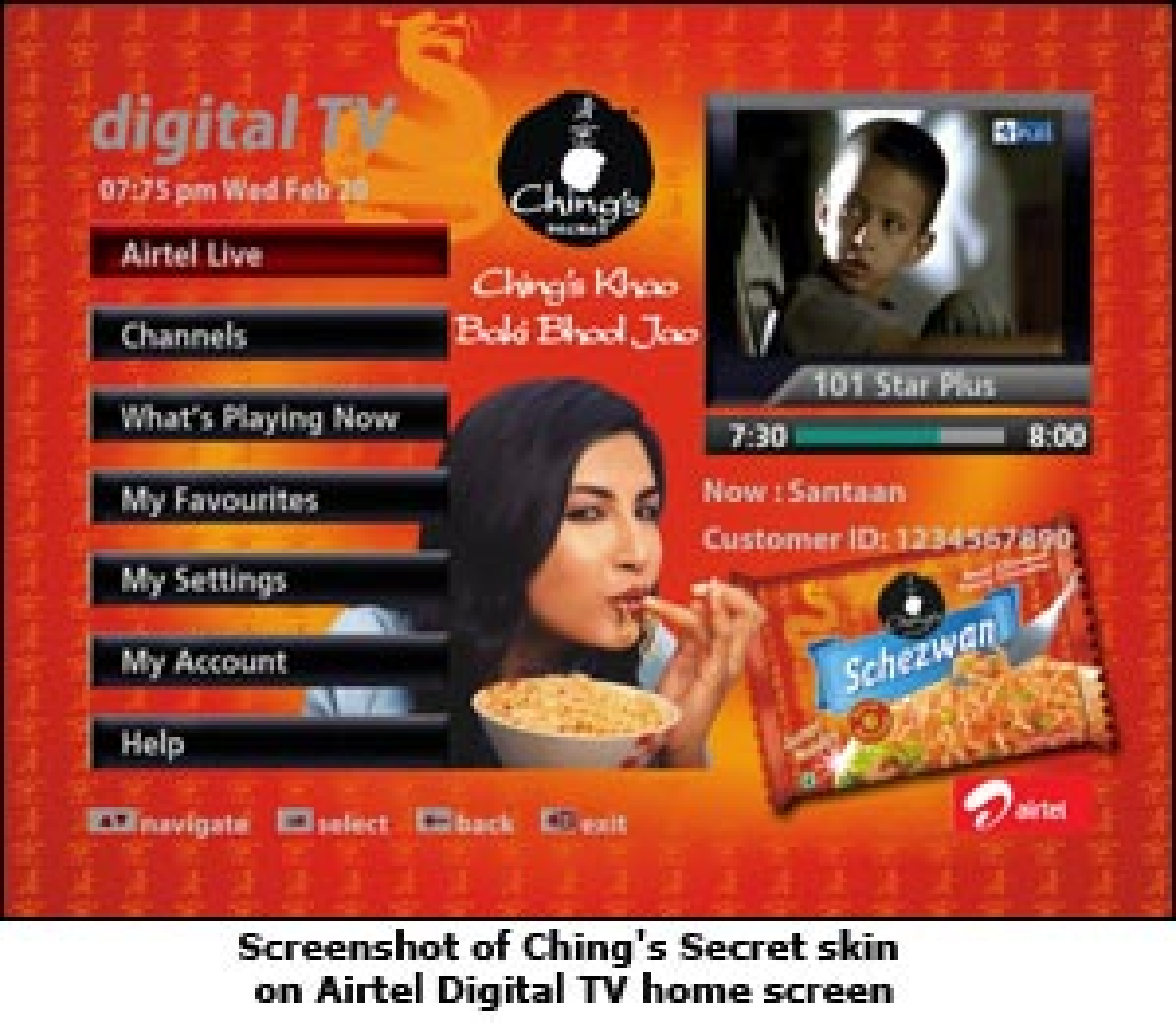 Ching's Secret to experiment with interactive ads on Airtel digital TV