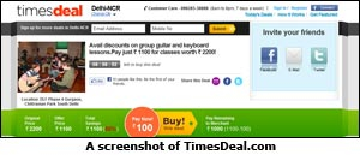 The Times of India group launches daily deals website, Timesdeal.com