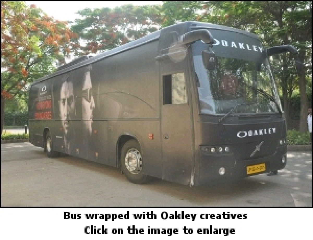 Oakley wraps a bus to educate consumers