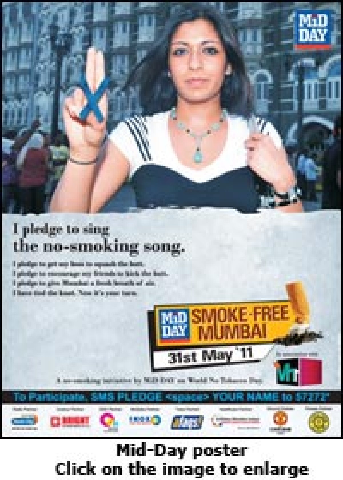 Mid-Day launches 'Smoke Free City' drive to celebrate World No Tobacco Day