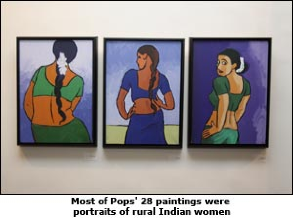 Burnett's Pops displays iPad paintings at the iPops exhibition