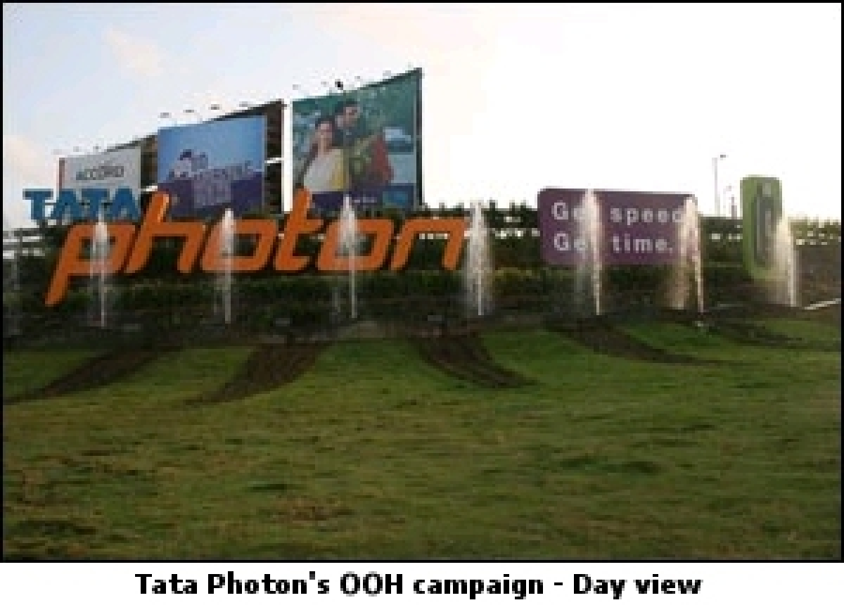 Tata Photon rolls out large signage for 'Get Speed, Get Time' campaign
