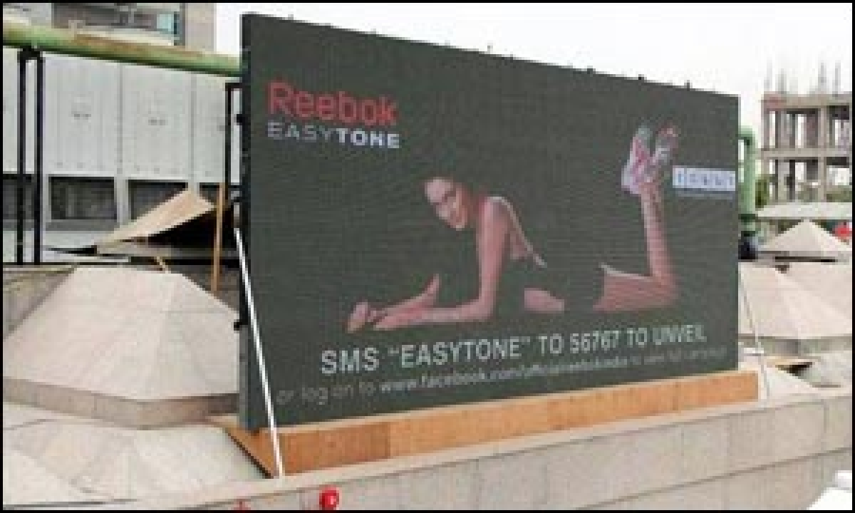 Posterscope builds intrigue for Reebok EasyTone with 'reveal' campaign