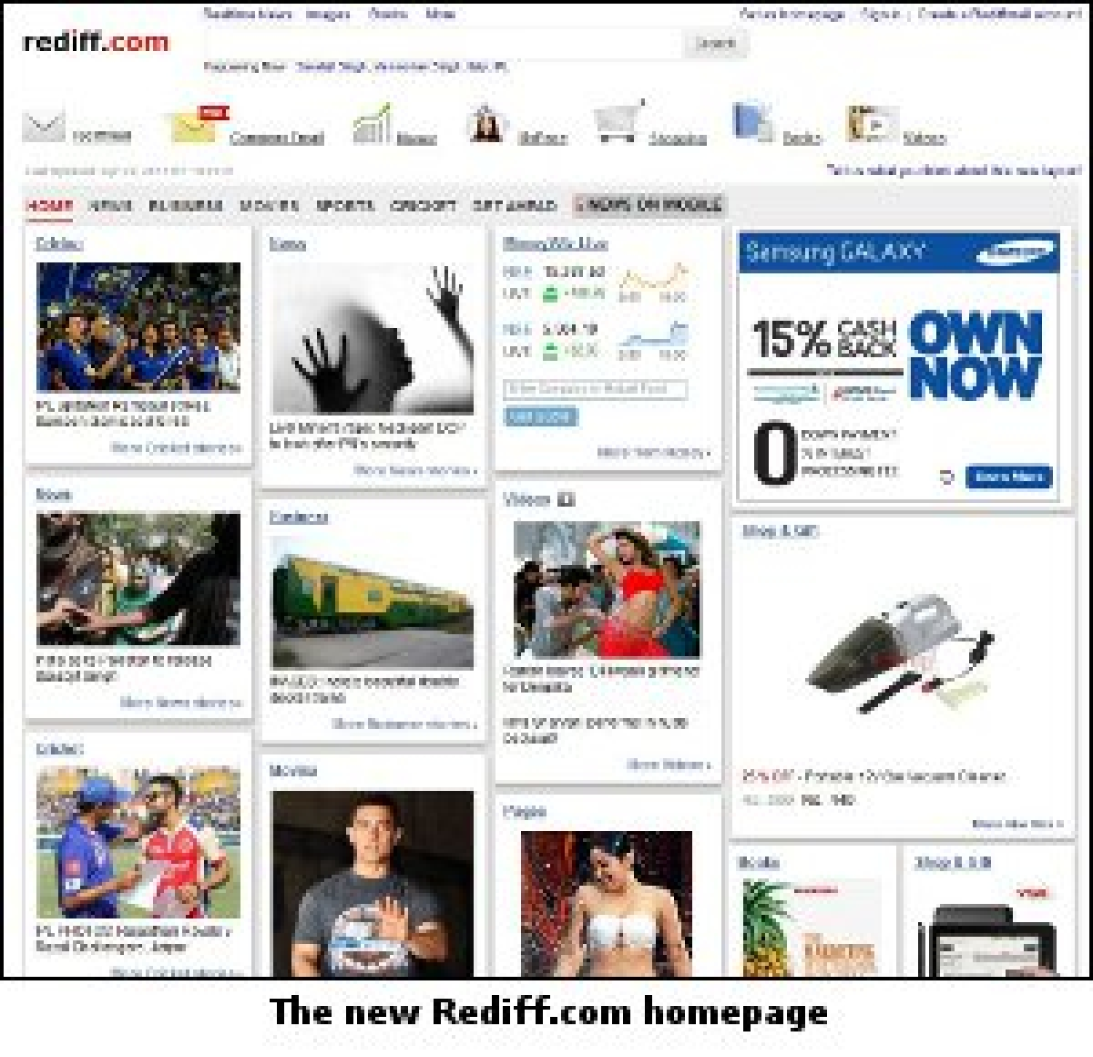 Rediff.com adopts a tiled look