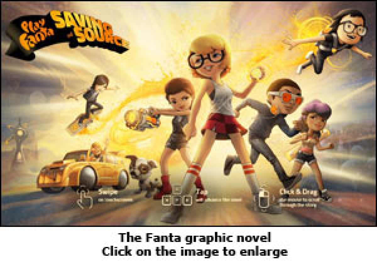 Fanta goes Play with digital graphic novel