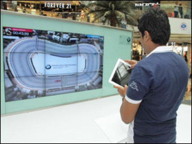 BMW races on virtual track