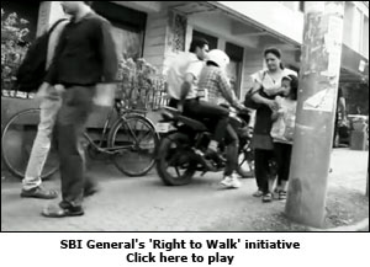 SBI General Insurance's road safety message