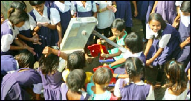 Lifebuoy's jump and pump promotes clean hands in schools