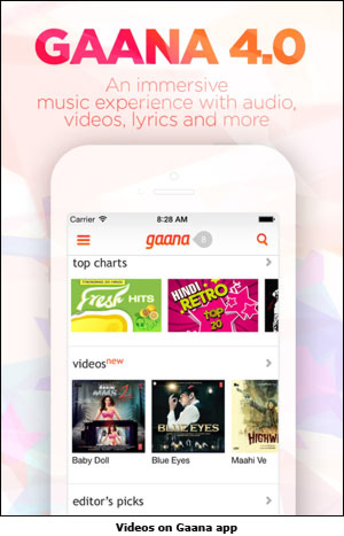 Gaana launches music videos on mobile