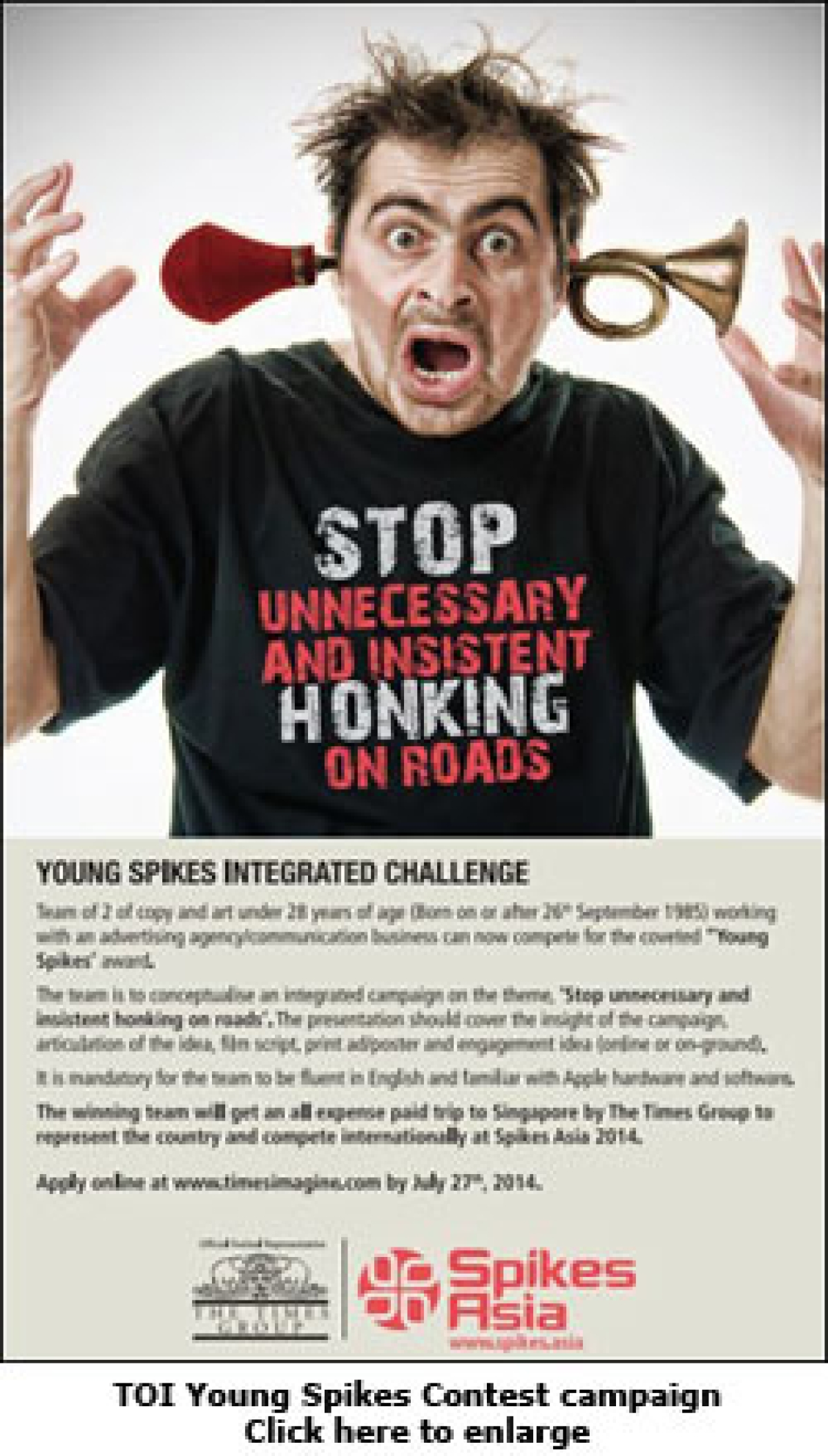 Times of India announces Young Spikes Contest