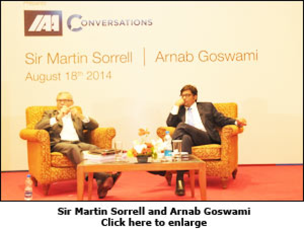 """""""India needs to exhaust domestic opportunities before going global"""": Sir Martin Sorrell"""