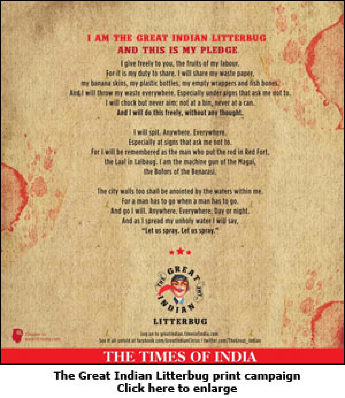 Times of India targets obnoxious litterbugs