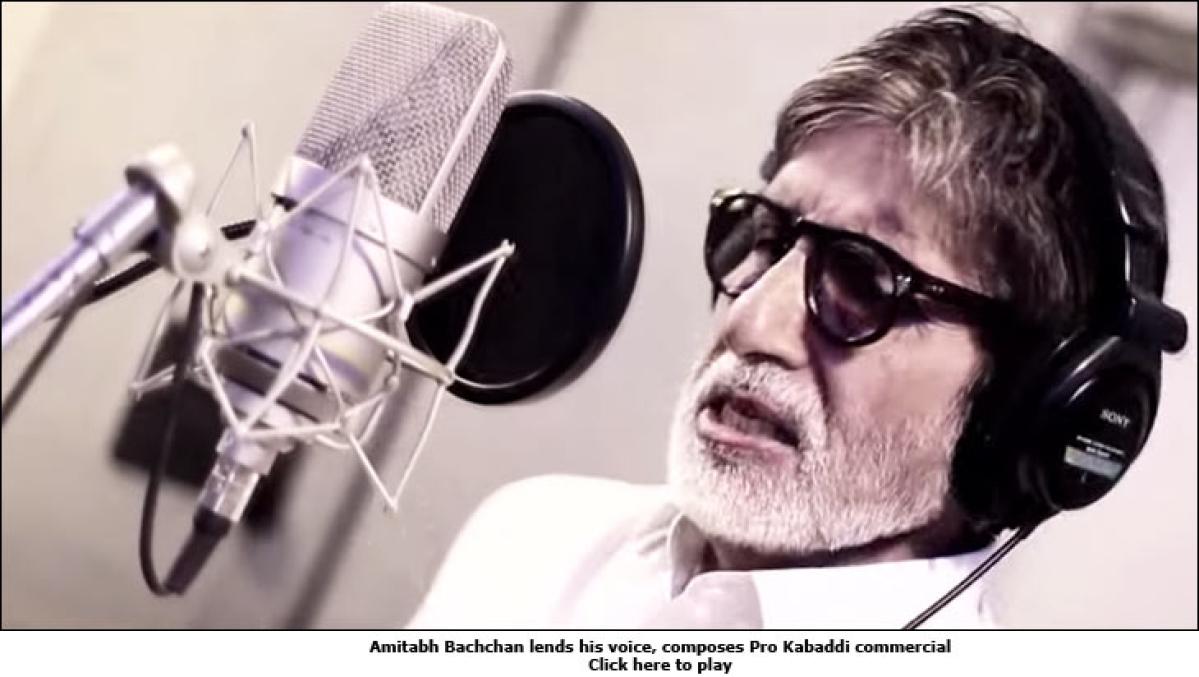 Amitabh Bachchan composes Pro Kabaddi commercial