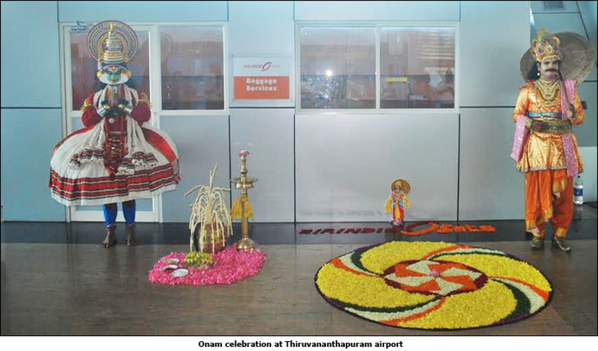 Kerala Tourism celebrates Onam at Thiruvananthapuram airport