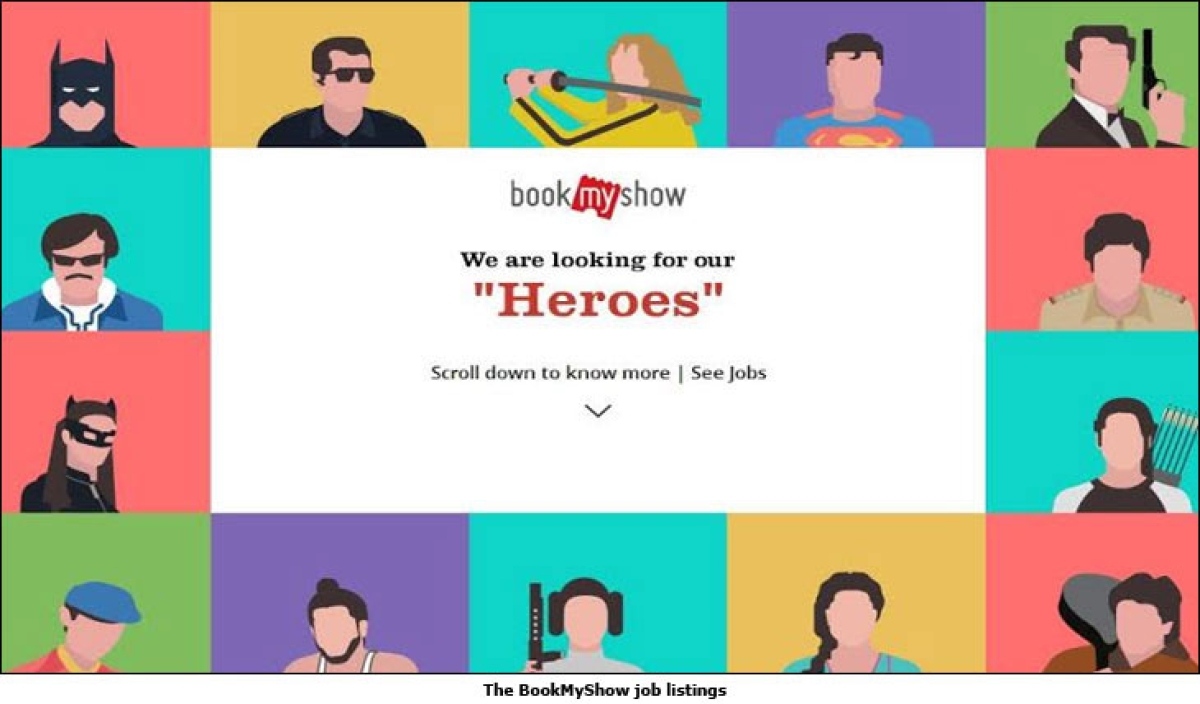 BookMyShow is hiring in style