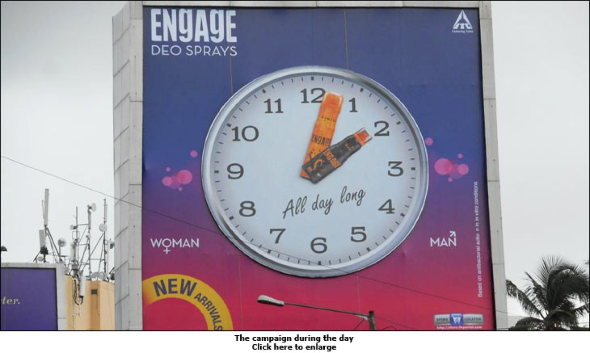 ITC Engages with an outdoor clock