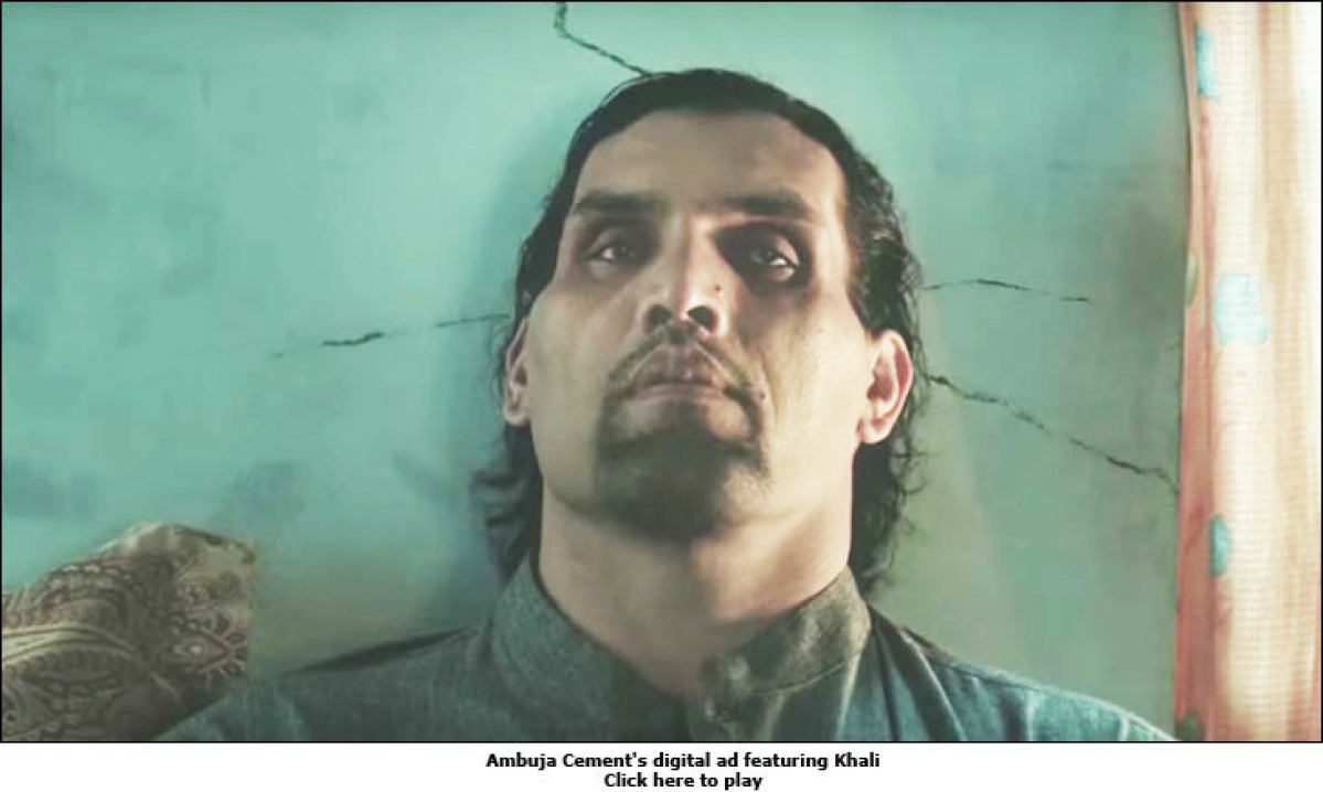The Great Khali 'throws his weight around' for Ambuja Cement