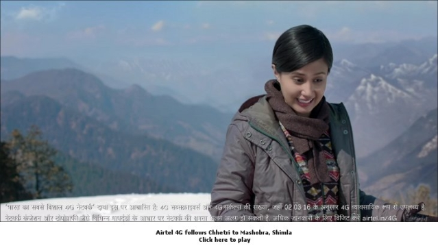 Believe it or not, the Airtel Girl is fed up of 4G