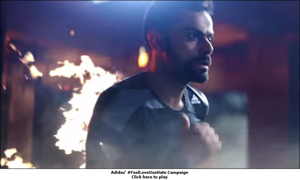 Virat Kohli plays upon #FeelLoveUseHate in new adidas campaign