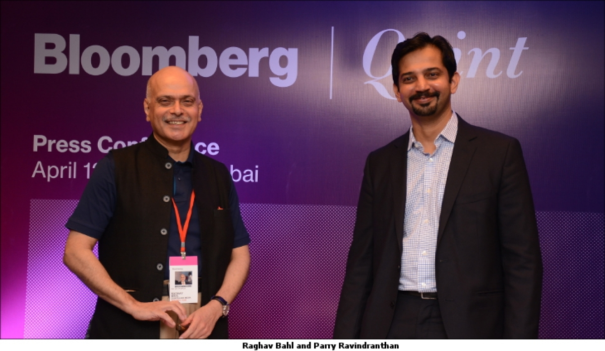 Bloomberg announces partnership with Quintillion Media to create BloombergQuint