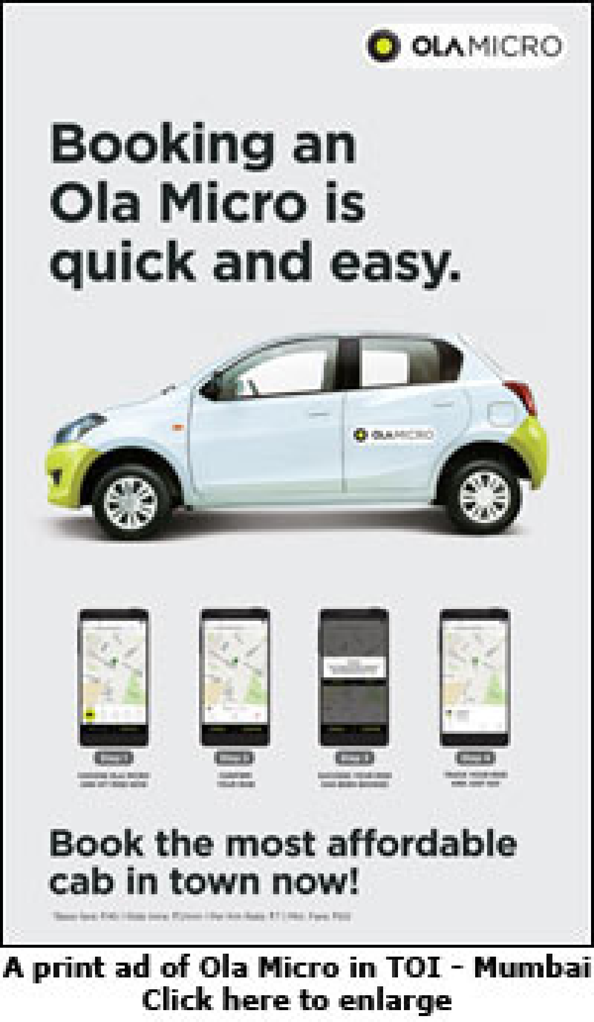 Ola insists it costs less than walking