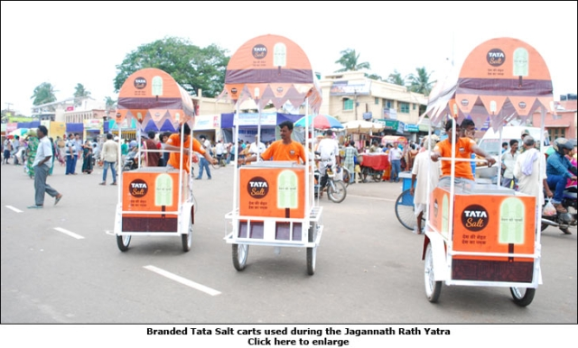 Tata Salt at Puri Rath Yatra: One lakh branded 'Energy Pops', 130 kg of salt, three branded carts