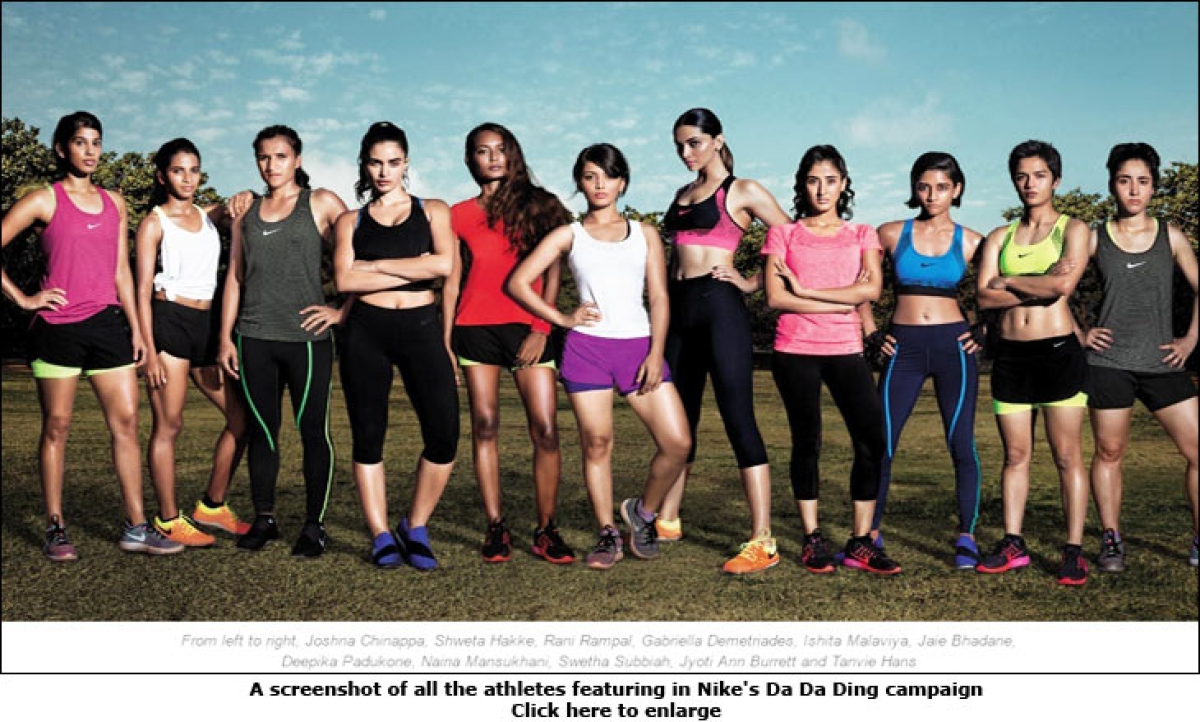 """Nike on 'Da da ding' ad: """"The campaign aims to inspire young women to take up sports"""""""