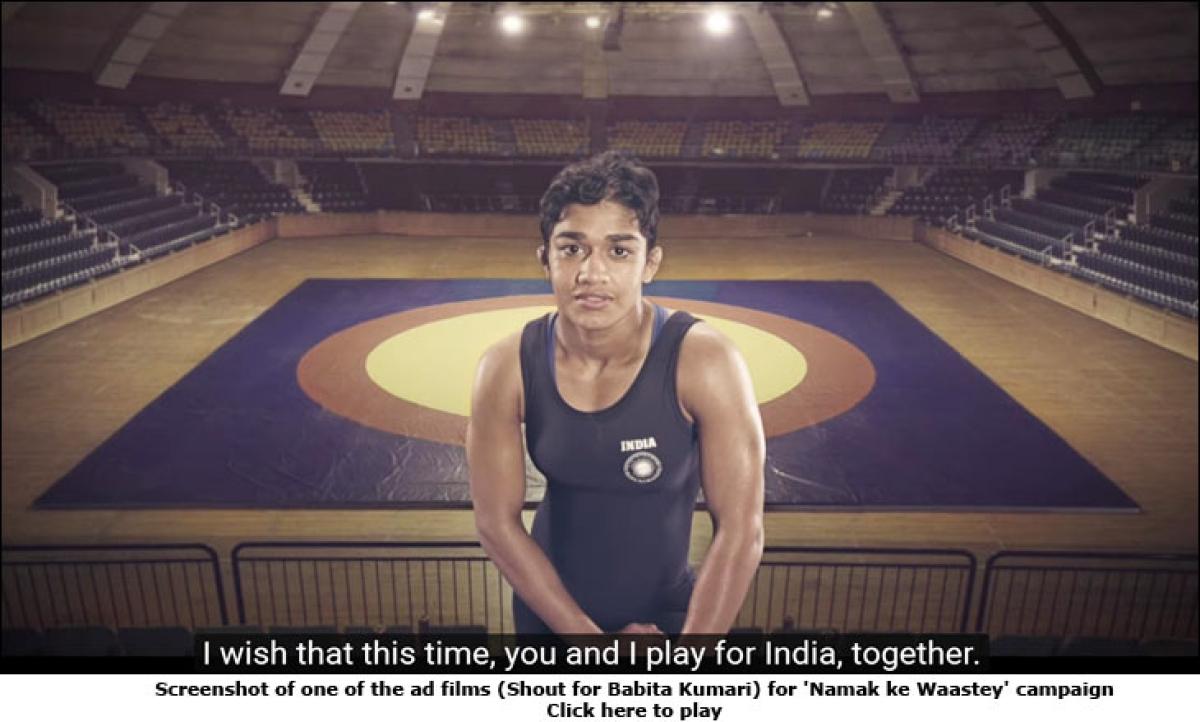 Tata Salt cheers Indian athletes heading to Rio Olympics with 'Namak ke Waastey' campaign