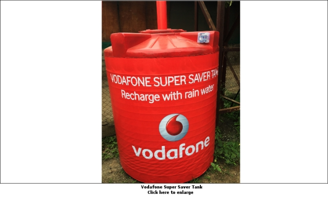 When Vodafone installed five unique rainwater harvesting billboards at New Airport Road, Pune