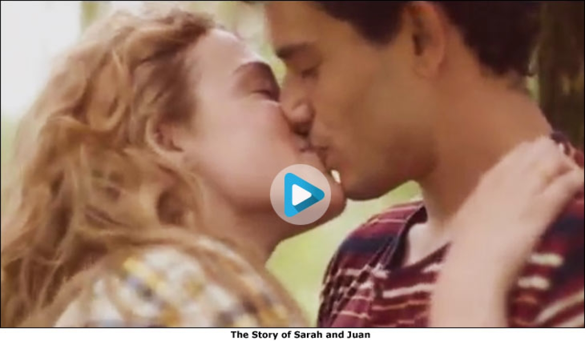 Did we just see a desi ad with a kiss in it?