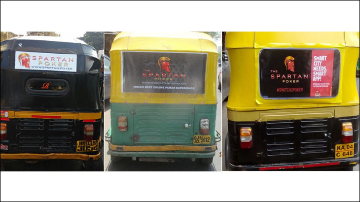 Why do 18,000 rickshaws in Mumbai have 'Spartan' stickers on them?