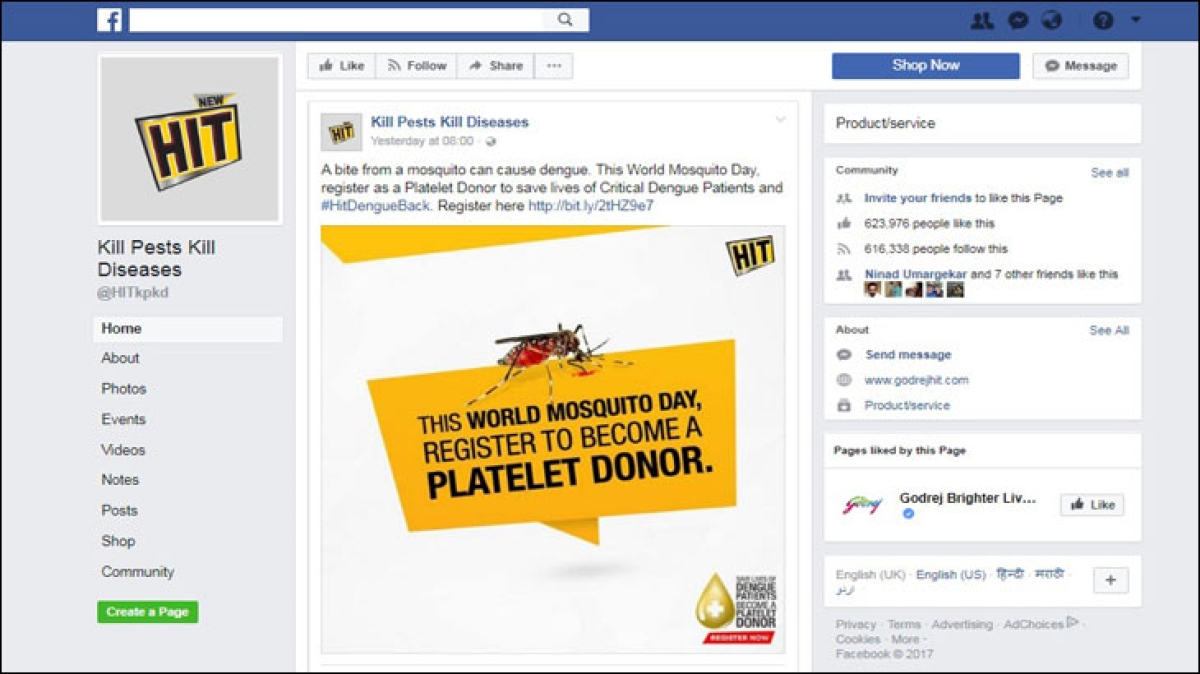 Why is this mosquito poking people on Facebook?
