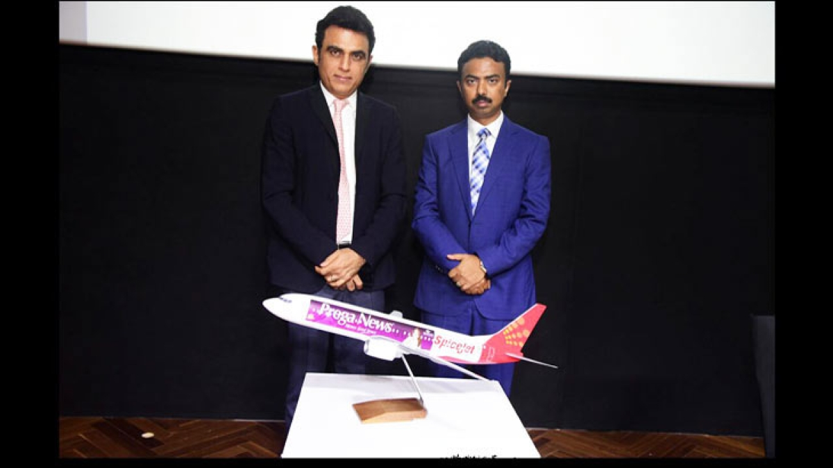 Prega News will soon be visible on SpiceJet's 'Flying Billboard'