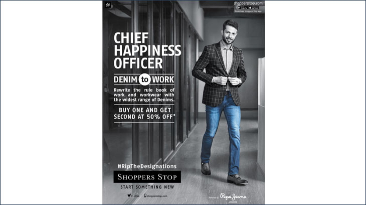 Chief Everything Officers wear denim to work...