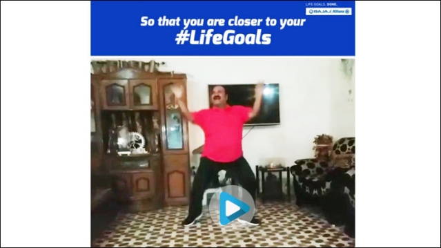 Bajaj Allianz piggybacks on the suddenly viral 'Dancing Uncle'
