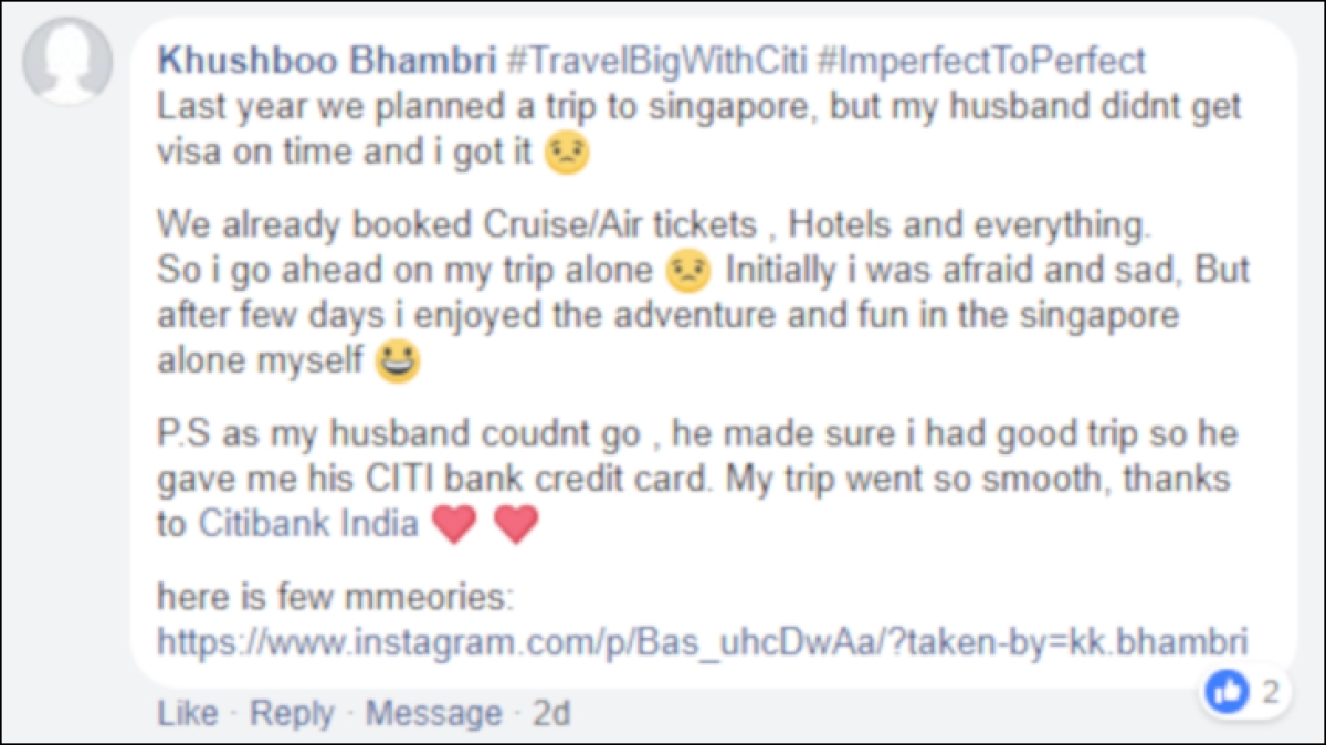 How Citi's #TravelBigWithCiti campaign made their users' wishes come true