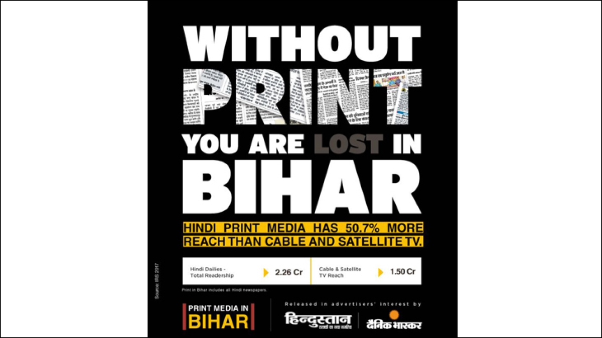 Hindi print reigns over TV in Bihar...