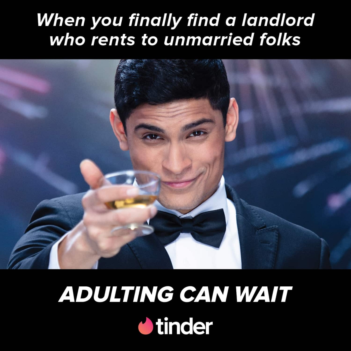 """Adulting can wait"" says Tinder in new ads"