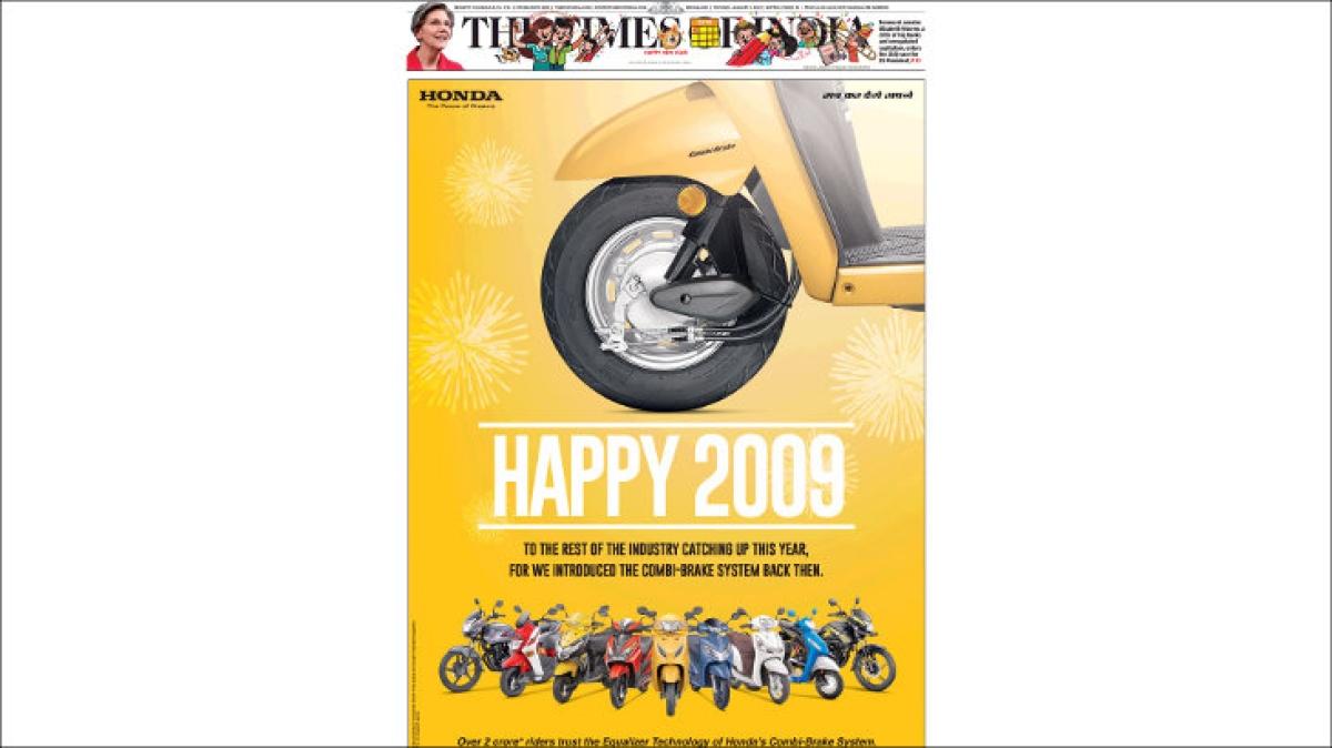 """Honda wishes rivals """"Happy 2009"""""""