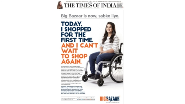 As Big Bazaar makes over 140 stores wheelchair-friendly...