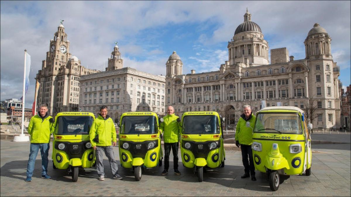Ola puts Bajaj, Piaggio autos on Liverpool streets
