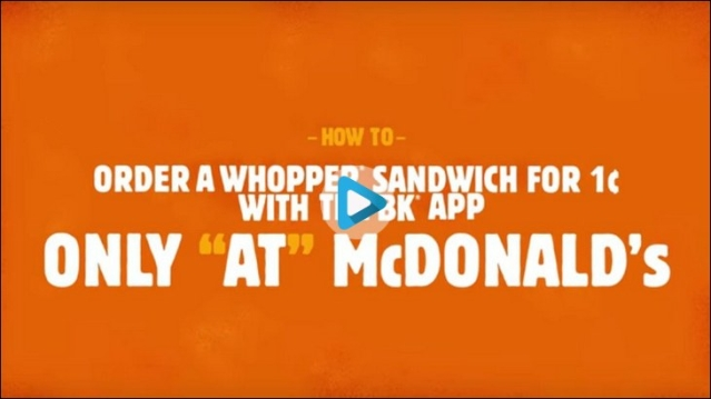 Burger King invites customers to burn competitors ads...