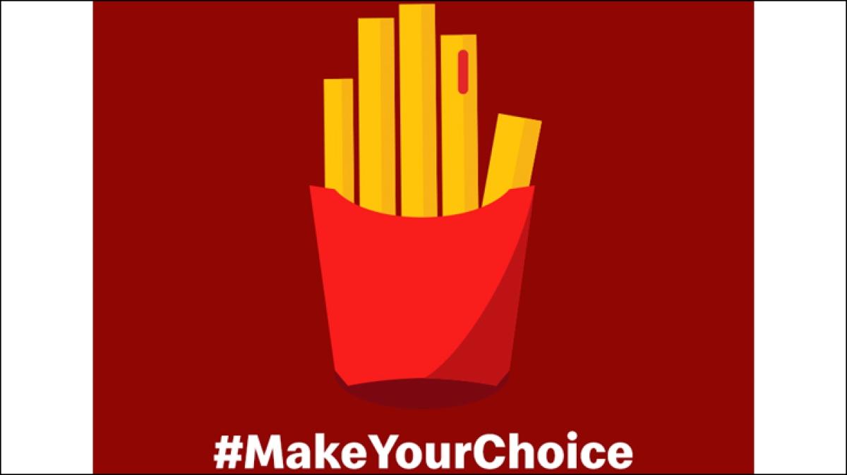 'No vote, no choice of burger', says McDonald's