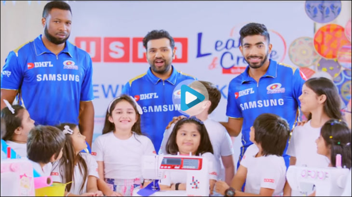 From this black and white print ad to a colourful Mumbai Indians spot...