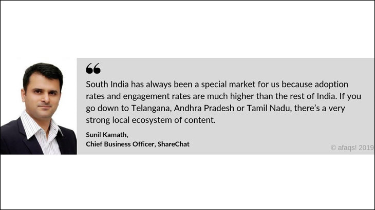 South India has been a special market because adoption and engagement rates are higher: Sunil Kamath, ShareChat